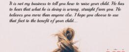 Letter to Parent of Misbehaving Child