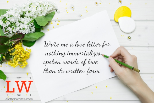 Write Me A Love Letter from aletterwriter.com